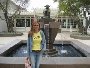 Me at ILM in front of Yoda Fountain :)